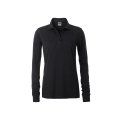Damska koszulka Polo Workwear Polo Pocket Longsleeve - Black