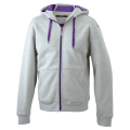 Męska bluza polarowa James&Nicholson Doubleface Jacket - Heather / Purple