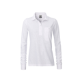 Damska koszulka Polo Workwear Polo Pocket Longsleeve - White