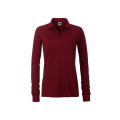 Damska koszulka Polo Workwear Polo Pocket Longsleeve - Wine