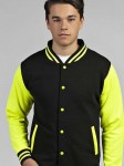 Bluza unisex Just Hoods Electric Varsity