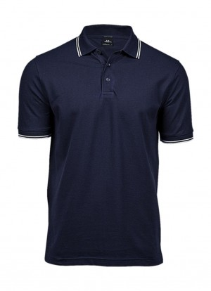 Męska koszulka Polo Luxury Stripe Stretch