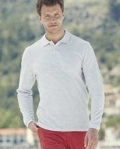 Męska koszulka Fruit of the Loom Premium Long Sleeve Polo