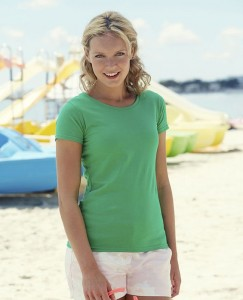 Koszulka damska Fruit of The Loom Lady-Fit Valueweight T