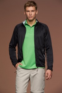 Męska bluza James Nicholson Stretchfleece Jacket