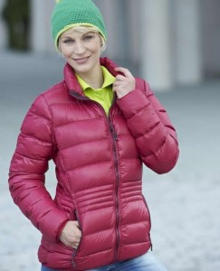 Damska kurtka pikowana James Nicholson Winter Down Jacket