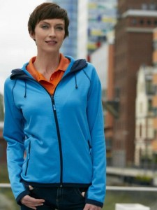 Damska bluza polarowa James Nicholson Hodded Fleece