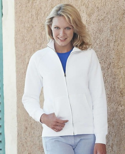 Bluza damska Fruit of the Loom Lady-Fit Premium Sweat Jacket