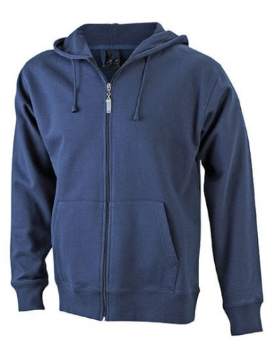 Bluza rozpinana z kapturem James Nicholson Men`s Hooded Jacket