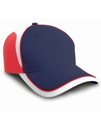 Czapka z daszkiem Result National Cap - France Navy/Red/White