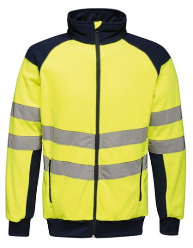 Odblaskowy polar Regatta Hi-Vis Pro Fleece Jacket - Yellow/Navy