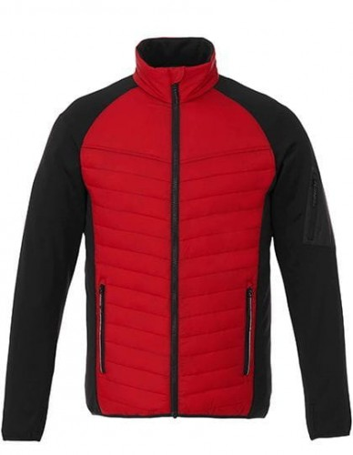 Męska kurtka zimowa Banff Hybrid Insulated Jacket Red - Black