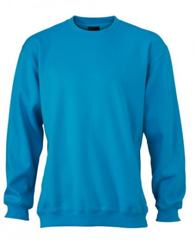 Bluza męska James Nicholson Round Sweat Heavy - Turquoise
