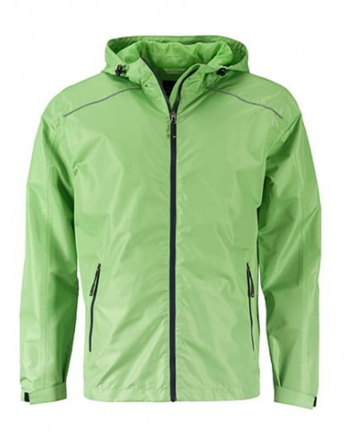 James Nicholson Mens` Rain Jacket - Spring Green/Navy