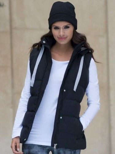 Damski bezrękawnik Padded Gilet with Detachable Hood