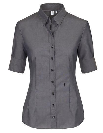 e003335084 ... Damska koszula Seidensticker Slim Fit krótki rękaw - Anthracite ...